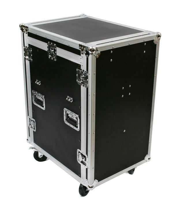 14U Aluminum Plywood DJ Mixer Rack Flight Case With Wheels