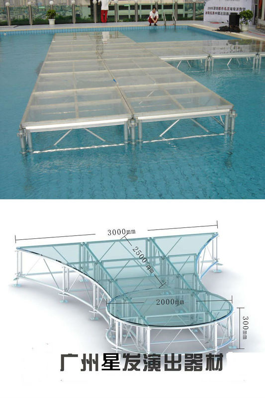 Catwalk Adjustable Alumimum Stage, Aluminum acrylic Stage for Fashion Show