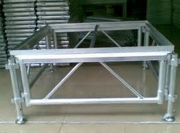 Adjustable Height Aluminum Stage Truss For Indoor / Outdoor Movable Stage Platform